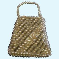 Beautiful beaded doll purse