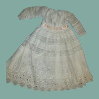 Gorgeous inlaid lace dress for large doll
