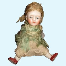 Sweet all bisque closed mouth doll