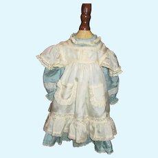 Beautiful silk dress and pinafore