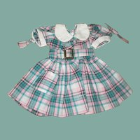 Darling checkerd doll dress