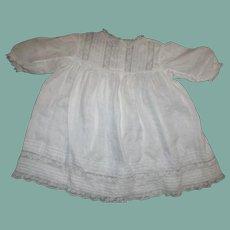 Beautiful inlaid lace dress with pinucking