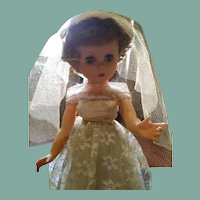 Beautiful vintage bride doll