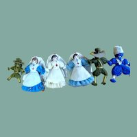Adorable miniature dolls WW1