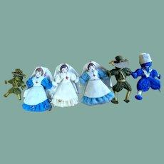 Adorable miniature dolls WW1
