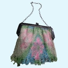 Beautiful Whiting & Davis Enamel Mesh Purse