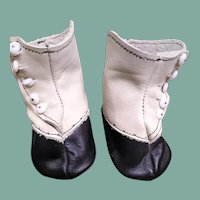 Great old larger leather  doll shoes