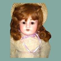 """Pretty 22"""" antique bisque doll"""