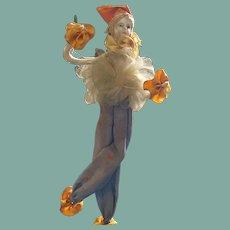 Wonderful Deco Pierrot bisque head