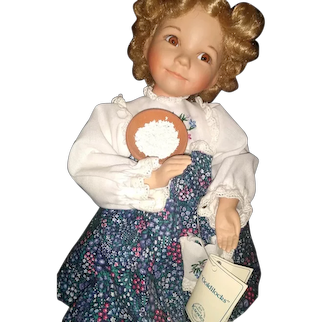 "Adorable bisque Goldilocks by Diane Effner 14 1/2"""