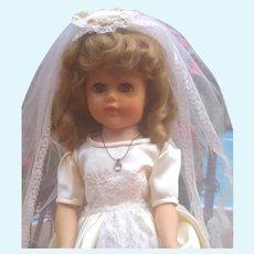 Beautiful vintage bride doll