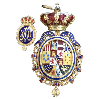 Spanish 22k & Enamel medal King Alfonso XIII