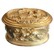 Gilt, Oval Bronze Doré Box