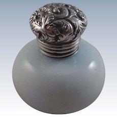 Superb Antique Glass And Sterling Silver Vinaigrette Circa 1850