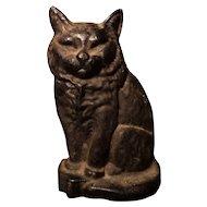 Victorian cast iron cat doorstop