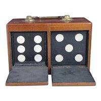 Antique magicians trick dice box, late Victorian