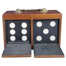 Antique magicians trick dice box, late Victorian