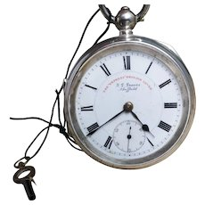 Antique silver lever pocket watch, JG Graves, Edwardian