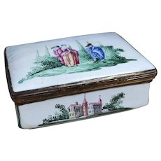 18th Century German enamel snuff box