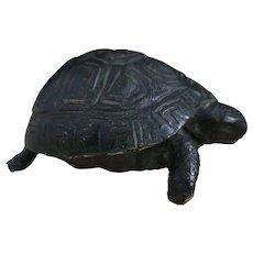 Antique solid bronze tortoise figure