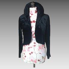 1920's Black Silk Velvet jacket