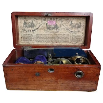 Victorian magneto electric machine, antique medical