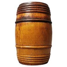 Antique Georgian tobacco barrel, box
