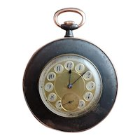 Antique French gold and gunmetal pocket watch, working