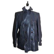 Vintage German leather jacket, U boat, Kriegsmarine, WW2