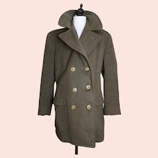Vintage British Army officer's overcoat