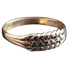Antique rose gold keeper ring, 9kt