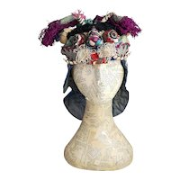 Antique Chinese silk Tiger festival hat