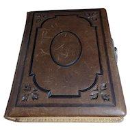 Victorian embossed leather photograph album