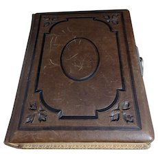 Victorian embossed leather photograph album