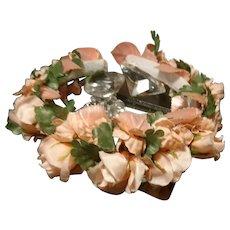 Beautiful 1930's floral headdress, vintage bridal headpiece, art deco wedding