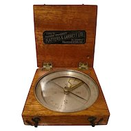 Extremely rare antique scientific compass and clinometer by Flatters and Garnett
