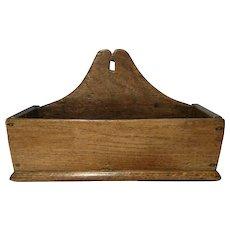 Early Georgian 1700's, solid oak wood letter rack, letter holder - Red Tag Sale Item