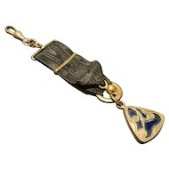 Antique art nouveau fob ribbon, watch fob