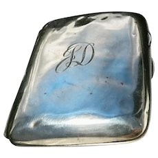 Vintage 1920's sterling silver cigarette case, gilt lined