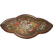 Amazing Antique Victorian walnut and beadwork clock stand, ceramic bun feet, antique home decor