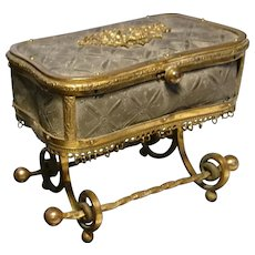 Incredible Rococo, Louis XV, bronze and ormolu jewellery casket, 18th century French antique jewellery box, provenance