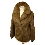 Vintage rabbit fur jacket, as new, Hollywood glam, Sale
