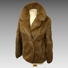 Vintage rabbit fur jacket, as new, Hollywood glam