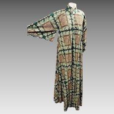 Vintage kimono style maxi dress