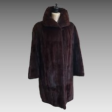 Vintage mink coat, 1950's Griffin and Spalding fur coat