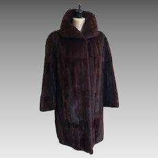 Vintage mink coat, 1950's Griffin and Spalding fur coat