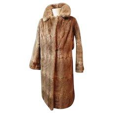 Vintage 1950's fur coat, mink