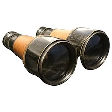 WW1 British spy glasses, antique field glasses, broad arrow mark British military, French made