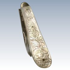 Fine antique sterling silver and mother of pearl fruit knife
