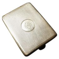 Vintage 20's sterling silver match case, art deco silver vesta, gilt lined, fully hallmarked